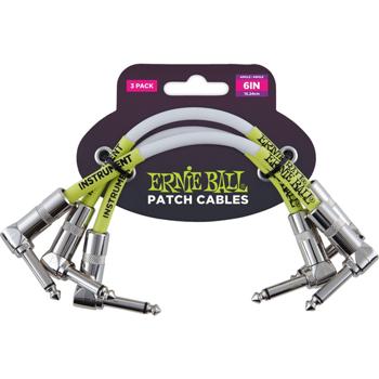 3x kabel do efektów ERNIE BALL EB 6051 / 15cm