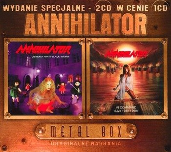 ANNIHILATOR: CRITERIA FOR A BLACK WIDOW / IN COMMAND LIVE 1989-1990 (2CD)