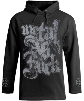 bluza METAL AS FUCK czarna, z kapturem