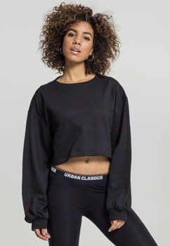 bluza damska LADIES OVERSIZED SHORT CREWNECK black