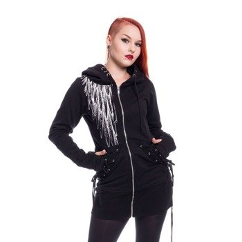 bluza damska VIXXSIN - SHADOW ANGEL, rozpinana z kapturem