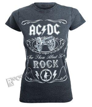 bluzka damska AC/DC - CANNON SWIG VINTAGE