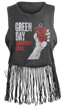 bluzka damska GREEN DAY - AMERICAN IDIOT VINTAGE, na ramiączkach