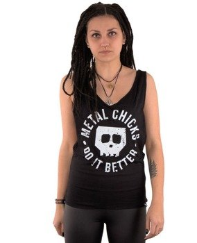 bluzka damska METAL CHICKS DO IT BETTER - SKULL, na ramiączka