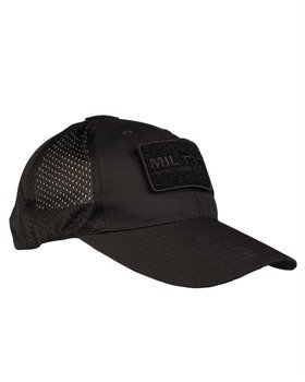 czapka BASEBALL CAP NETZ SCHWARZ