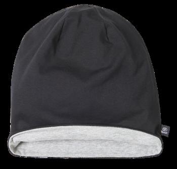 czapka zimowa JERSEY BICOLOR BLACK GREY