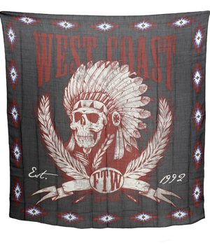 flaga WEST COAST CHOPPERS - SCARF (120cm x120cm) black