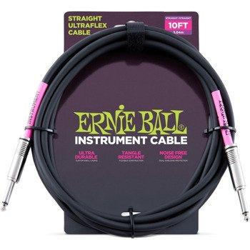 kabel gitarowy ERNIE BALL jack prosty/prosty 3,04m
