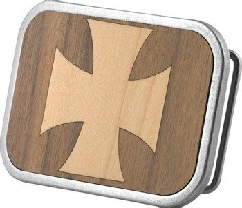 klamra do pasa IRON CROSS MARQUETRY WALNUT/MAPLE