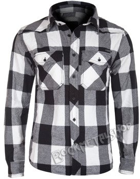 koszula CHECKSHIRT - WHITE BLACK