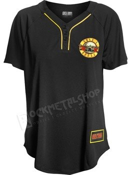 koszula baseballowa damska GUNS N' ROSES - ROSES & PISTOLS
