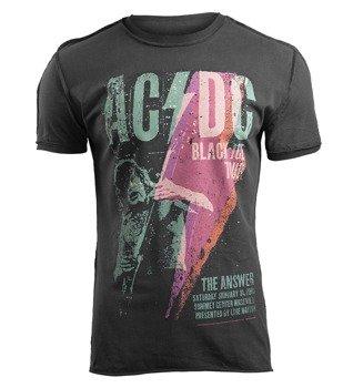 koszulka AC/DC - BLACK ICE TOUR ciemnoszara