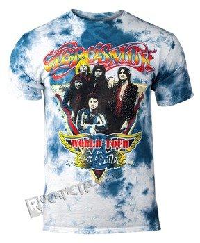 koszulka AEROSMITH - WORLD TOUR TRIANGLE, barwiona