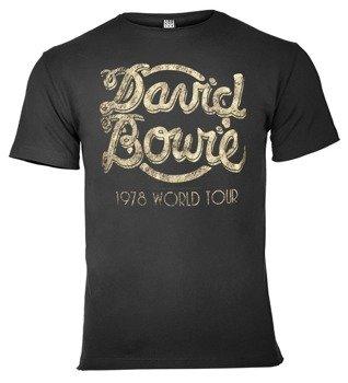 koszulka DAVID BOWIE - 1978 WORLD TOUR ciemnoszara