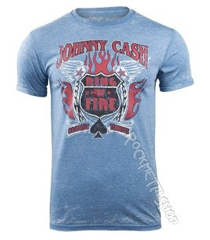 koszulka JOHNNY CASH - RING OF FIRE MENS BURNOUT