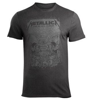 koszulka METALLICA - THE BLACK ALBUM ciemnoszara