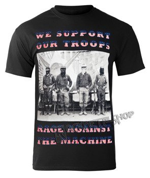 koszulka RAGE AGAINST THE MACHINE - WE SUPPORT OUR TROOPS