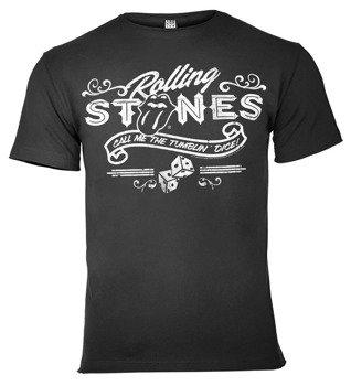 koszulka ROLLING STONES - TUMBLIN DICE ciemnoszara