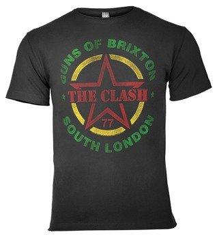 koszulka THE CLASH - GUNS OF BRIXTON TOUR ciemnoszara