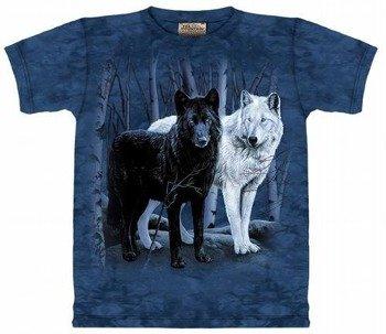 koszulka THE MOUNTAIN - BLACK WHITE WOLVES
