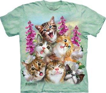 koszulka THE MOUNTAIN - KITTEN SELFIE, barwiona