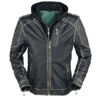 kurtka SUICIDE SQUAD LEATHER JACKET JOKER, black