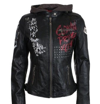 kurtka skórzana SUICIDE SQUAD LEATHER PROPERTY OF JOKER, black