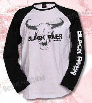 longsleeve BLACK RIVER - BLACK'N'ROLL black/white raglan