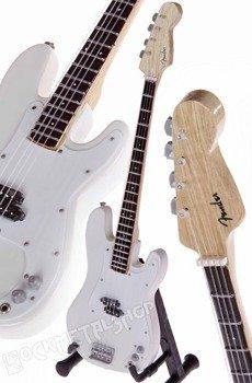 miniaturka gitary ARCTIC MONKEYS - NICK O'MALLEY: ARCTIC WHITE PRECISION