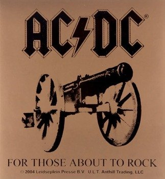 naklejka AC/DC - FOR THOSE ABOUT TO ROCK