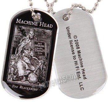 nieśmiertelnik MACHINE HEAD - THE BLACKENING