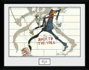 obraz w ramie PINK FLOYD - BACK TO THE WALL