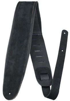 pas do gitary PERRI'S BLACK SUEDE LEATHER PADDED 80 mm