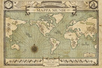 plakat FANTASTIC BEASTS - MAP