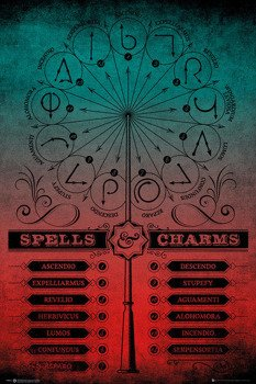 plakat HARRY POTTER - SPELLS AND CHARMS