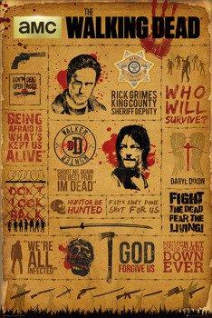 plakat THE WALKING DEAD - INFOGRAPHIC