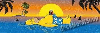 plakat panoramiczny SIMPSONS - HOMER SHARK