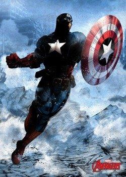 plakat z metalu MARVEL - CIVIL WAR - CAPITAN AMERICA