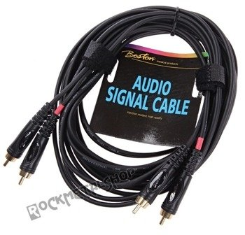 przewód audio BOSTON: 2 x RCA (cinch) - 2 x RCA (cinch) / 6m