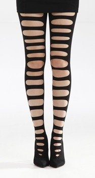 rajstopy FRONT SLASH RIPPED TIGHTS WITH GUSSET