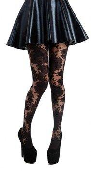 rajstopy Ornate Lace Black