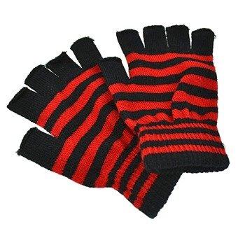 rękawiczki POIZEN INDUSTRIES - BLACK RED, bez palców