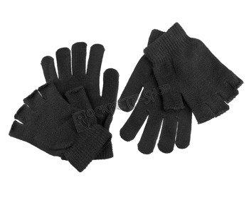rękawiczki POIZEN INDUSTRIES - BLACK, podwójne 2w1