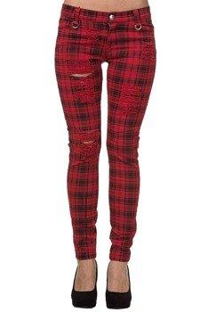 spodnie damskie BANNED - MOVE ON UP RED