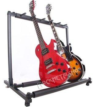 stojak na pięć gitar GLEAM MM-009B - do gitar elektrycznych i basowych