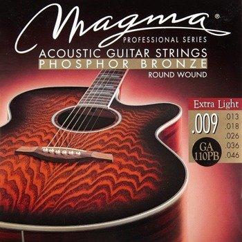 struny do gitary akustycznej MAGMA GA110PB Phosphor Bronze / Extra Light /009-046/