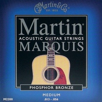 struny do gitary akustycznej MARTIN M2200 - PHOSPHOR BRONZE 92/8 Medium /013-056/