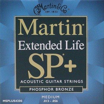 struny do gitary akustycznej MARTIN MSPLUS4200 - Extended Life, PHOSP.BRONZE, Medium /013-056/