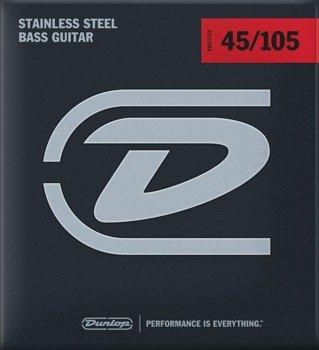 58bcda153f4c struny do gitary basowej JIM DUNLOP - STAINLESS STEEL  045-105  (DBS45105)