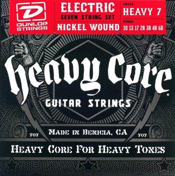 struny do gitary elektrycznej 7str. DUNLOP DHCN1060 Heavy Core /010-060/